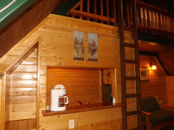 Cabin 11 Ladder & Kitchen