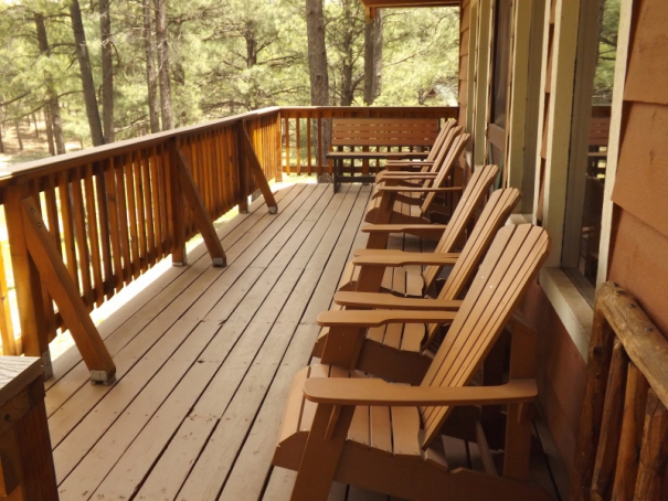 Cabin 16 Porch with new chairs