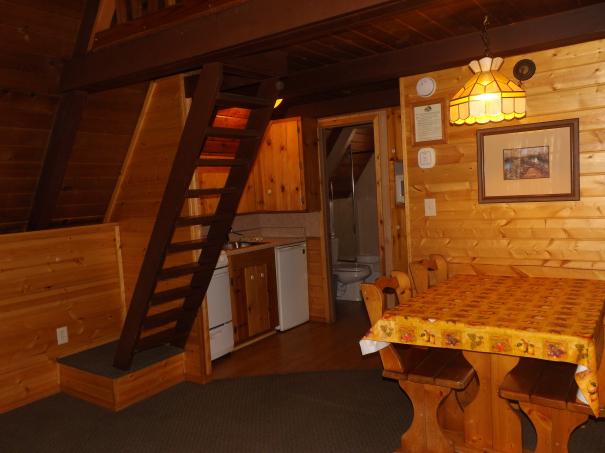 Cabin 9 Kitchen & stairs