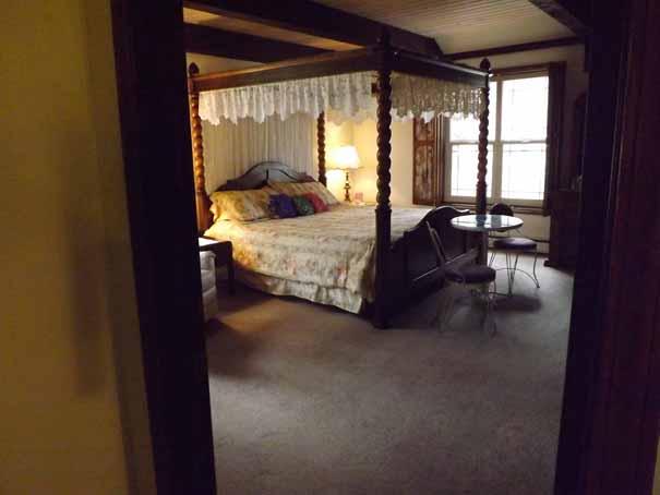 Bedroom view of Suite 21