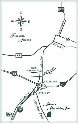 Directions to Arizona Mountain Inn