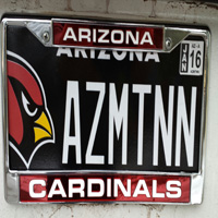 Cardinals License Plate
